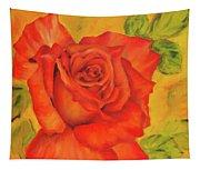 Orange Rose Blossom Tapestry