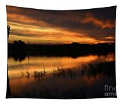 Orange Sunrise Tapestry