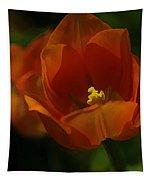 Orange Tulip Art Tapestry
