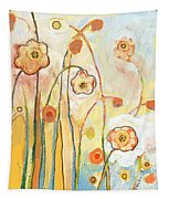 Orange Whimsy Tapestry by Jennifer Lommers