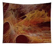 Orange With Texture Tapestry