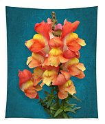 Orange Yellow Snapdragon Flowers Tapestry