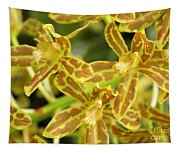 Orchid Drama Canvas Tapestry