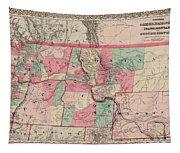 Oregon And Washington Territory Tapestry