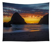 Oregon Coast Sunset Tapestry