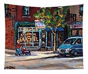 Original Art For Sale Montreal Petits Formats A Vendre Boulangerie St.viateur Bagel Paintings  Tapestry