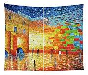 Original Western Wall Jerusalem Wailing Wall Acrylic 2 Panels Tapestry