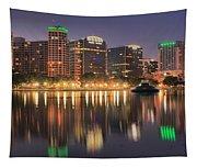Orlando Sunrise Panorama Tapestry
