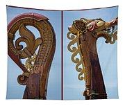 Ornamental Dragon Diptych Tapestry