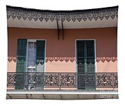 Ornate Balcony In New Orleans Tapestry