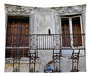 Ornate Weathered Artistic Architecture Tapestry