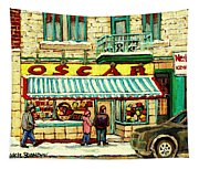 Oscar 's Candy Store Montreal Tapestry