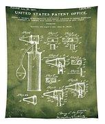 Otoscope Patent 1927 Grunge Tapestry
