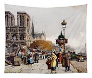 Our Lady For The Quai Saint-michel Tapestry
