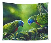 Out On A Limb - St. Lucia Parrots Tapestry