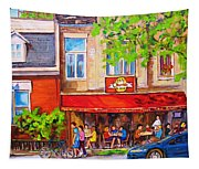 Outdoor Cafe Tapestry