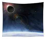 Outer Atmosphere Of Planet Earth Tapestry