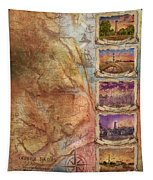 Outer Banks Lighthouse Map 3 Tapestry