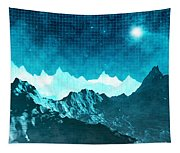 Outer Space Mountains Tapestry