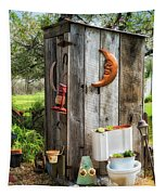 Outhouse In The Garden Tapestry