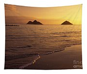 Outrigger Canoe Paddlers Tapestry