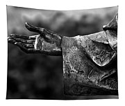 Outstreched Hand B-w Tapestry