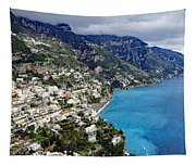 Overall View Of Part Of The Amalfi Coast In Italy Tapestry
