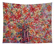 Overflowing Flowers. Tapestry