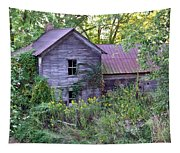 Overgrown Abandoned 1800 Farm House Tapestry