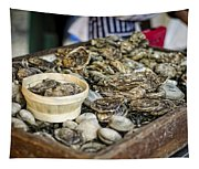 Oysters At The Market Tapestry