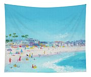 Pacific Beach In San Diego Tapestry
