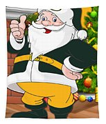 Packers Santa Claus Tapestry