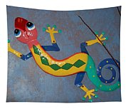 Painted Lizard Tapestry
