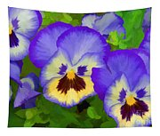 Painterly Pansies Tapestry