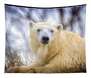Painted Polar Bear  Tapestry