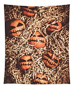painted tangerines for Halloween Tapestry