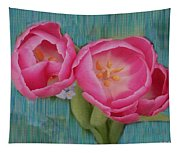 Painted Tulips Tapestry