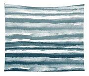 Painterly Beach Stripe 1- Art By Linda Woods Tapestry
