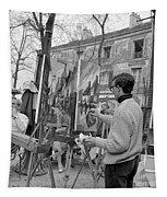 Painters In Montmartre, Paris, 1977 Tapestry