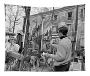 Painters In Montmartre, Paris, 1977 Tapestry