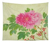 Painting Of Peonies Tapestry