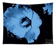 Pale Blue Tinge Hibiscus Flower Tapestry
