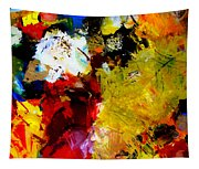 Palette Abstract Square Tapestry