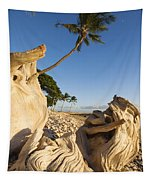 Palm And Driftwood Tapestry