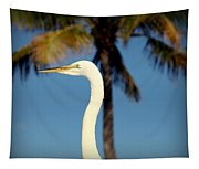 Palm Egret Tapestry