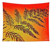 Palm Frond In The Summer Heat Tapestry
