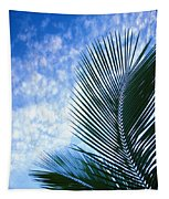 Palm Fronds And Clouds Tapestry