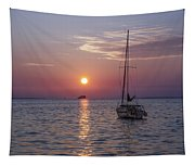 Palm Harbor Florida At Sunset Tapestry