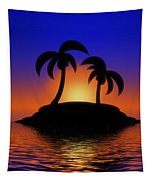 Palm Tree Island Tapestry