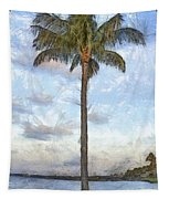 Palm Tree Pencil Tapestry